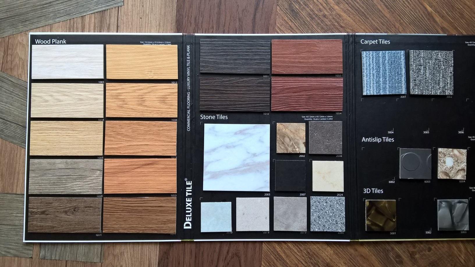 sàn nhựa giả gỗ deluxe 1001