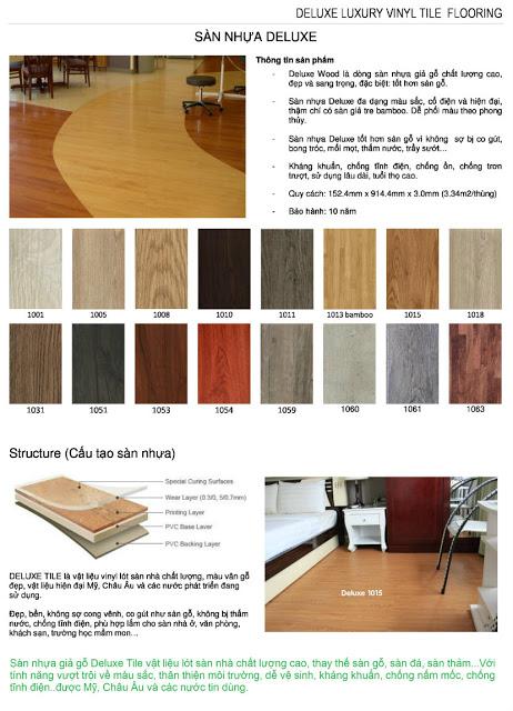 thông tin về sàn nhựa giả gỗ - simili trải sàn