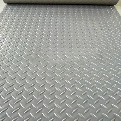 Thảm nhựa que diêm màu xám