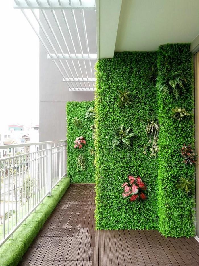 Thảm cỏ nhựa dương xỉ trang trí