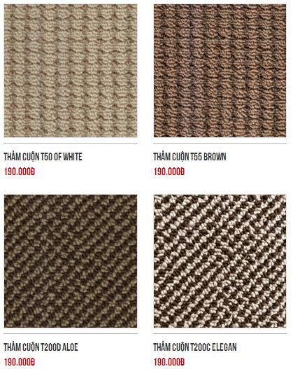 Những mẫu thảm lót sàn được lựa chọn nhiều