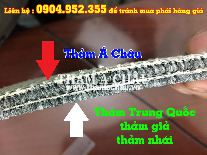 Cách nhận biết thảm trải sàn Trung Quốc, thảm nhái, giả, kém chất lượng