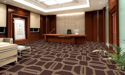 Thảm văn phòng màu nâu cho không gian ấm áp và hiện đại