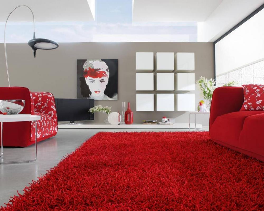 Thảm trải sàn màu đỏ - nét quyến rũ và sang trọng cho không gian sống nhà bạn