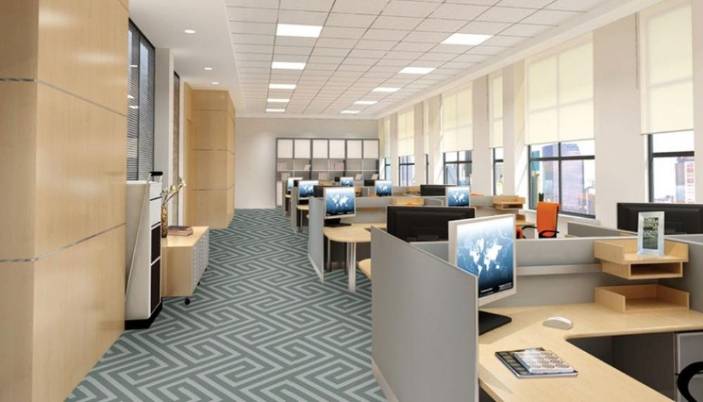 Thảm văn phòng phù hợp với không gian làm việc